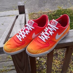 Fire Nike Air Force 1s Size 9.5 Mens
